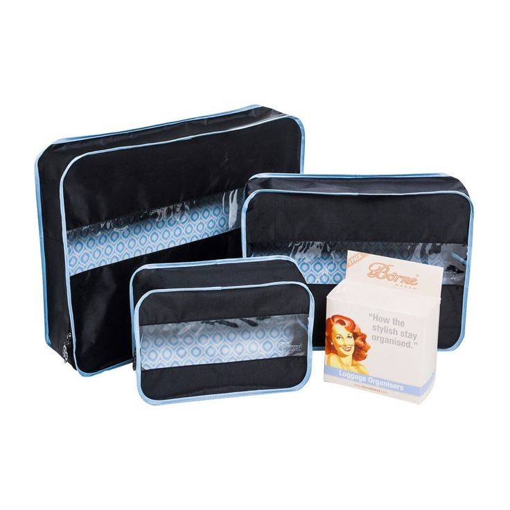 Luggage Organisers - sort out your suitcase, its as easy as UNZIP, FILL, SORT, PACK $39.95 AUD (set of 3) In stock