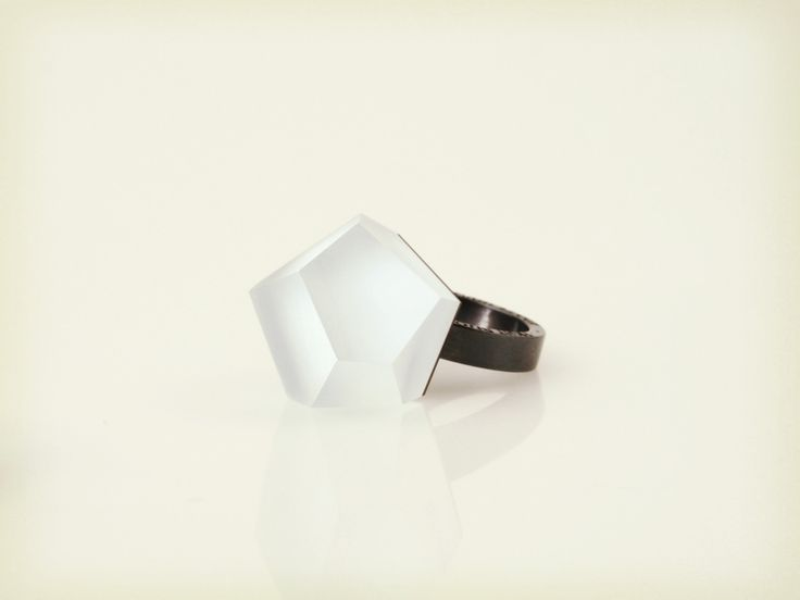 Vu - Alice blue, ruthenium ring - =PYO=