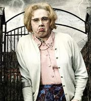 Psychoville. Maureen Sowerbutts (Reece Shearsmith). Image credit: British Broadcasting Corporation.