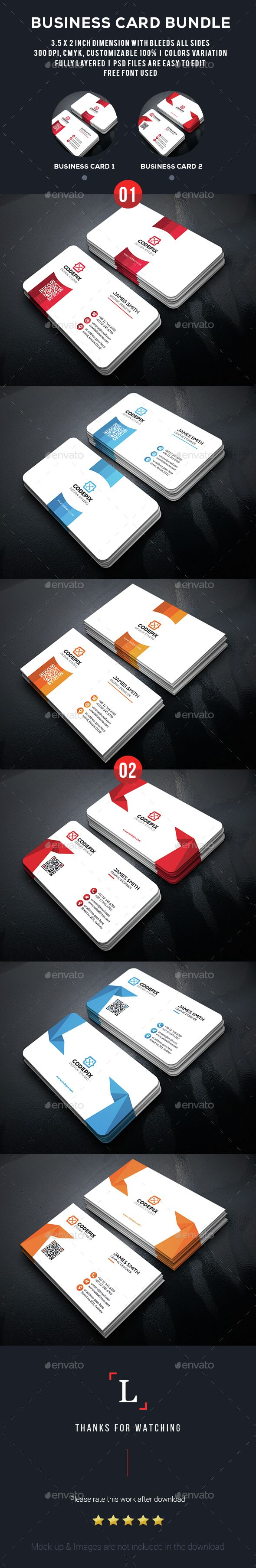 Clean Business Card Template PSD Bundle. Download here: http://graphicriver.net/item/clean-business-card-bundle/15352642?ref=ksioks
