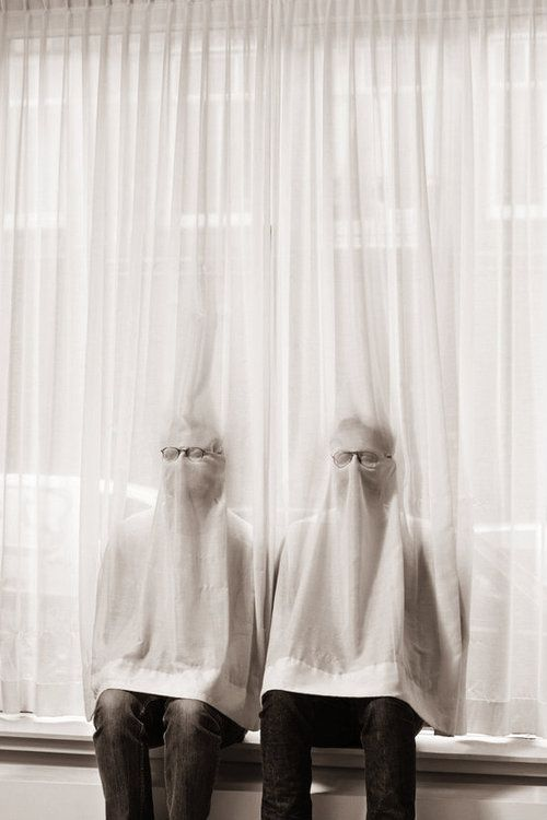 during family gatherings/neighborhood bbq's/etc. invisibles will often sit behind curtains and other clinging types of fabric in order to feel more a part of the group.