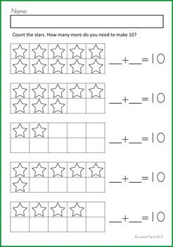Math & Literacy Worksheets & Activities - Christmas {98 pages} A page from the unit: Making 10