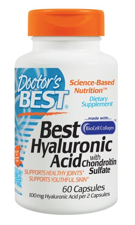 Doctor's Best, Best Hyaluronic Acid, with Chondroitin Sulfate, 60 Capsules - iHerb.com