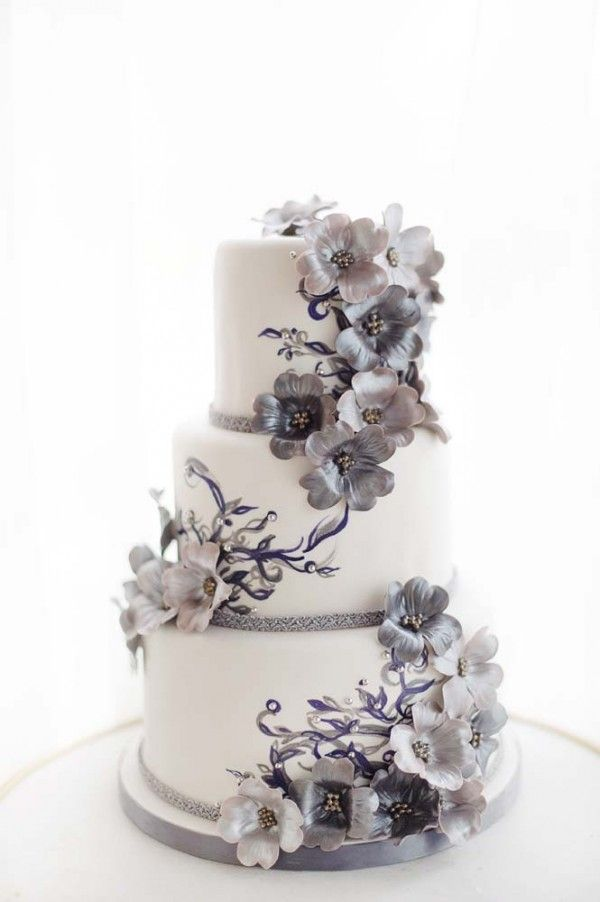 Art Nouveau Wedding Cake created for the Weddingbells Canada's Prettiest Wedding Cakes for 2014 online feature
