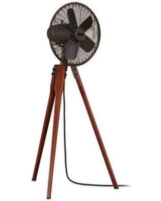 Fusing charming, transitional aesthetics with wondrous functionality, the Fanimation Arden Oscillating Floor Fan is a powerful tripod fan with a pleasant walnut wooden base. With 3 different speeds, this fan can keep you just the right amount of cool.