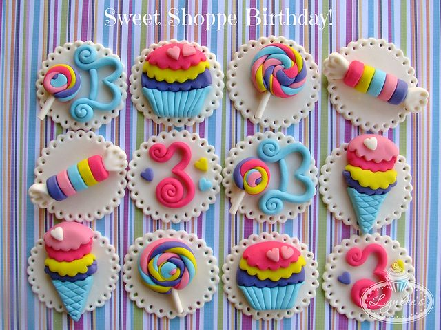 Sweet Shoppe Cupcake Toppers, via Flickr.