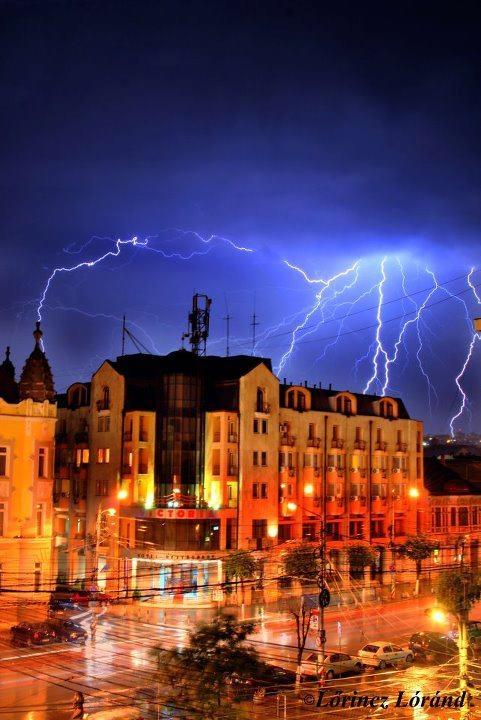 Storm in Cluj Napoca city, Romania