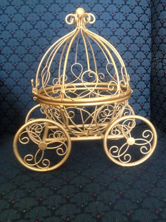 Gold Cinderella Pumpkin Carriage  Cute by GlitzyCraftBoutique