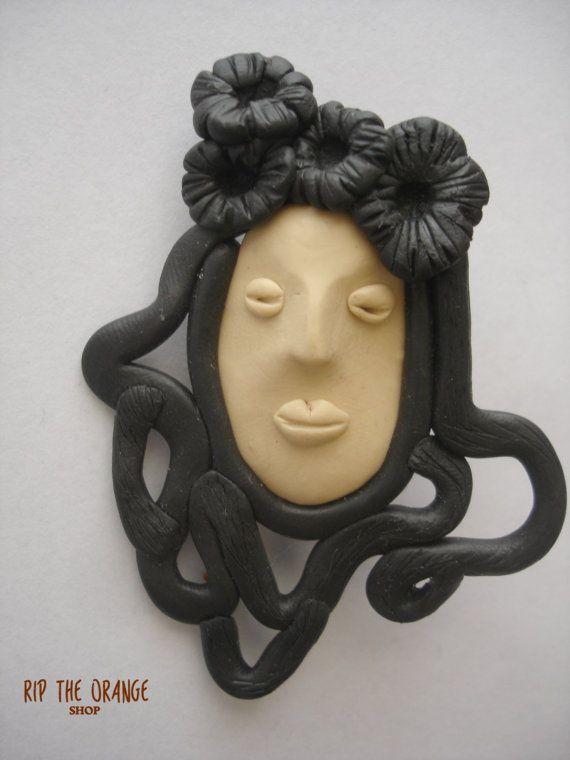Mask Brooch 01#