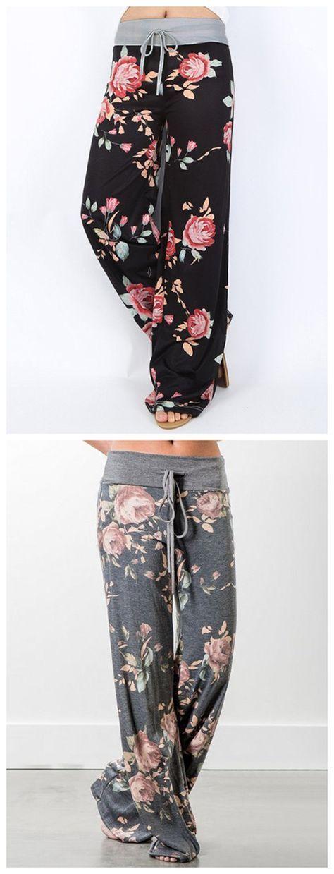 High Waist Wide Leg Pants
