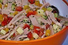 Pikanter Paprika - Käse - Wurst - Salat (Rezept mit Bild) | Chefkoch.de