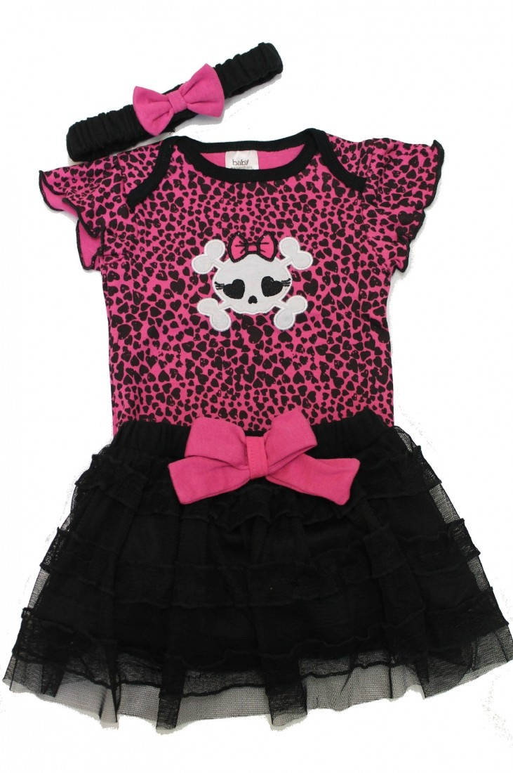Punk Baby Clothes, Skull Baby Girl Outfit