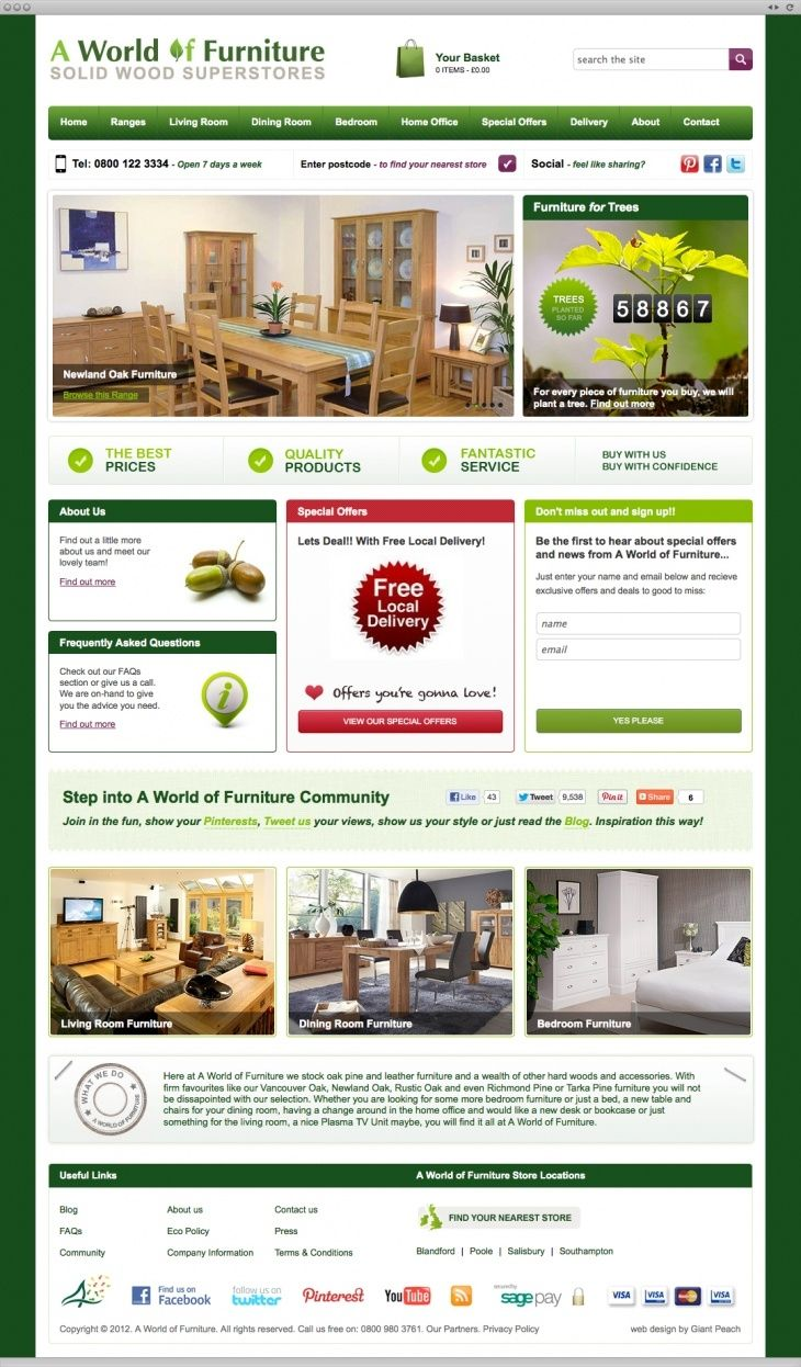 World of Furniture- We created a site as solid as their wardrobes.