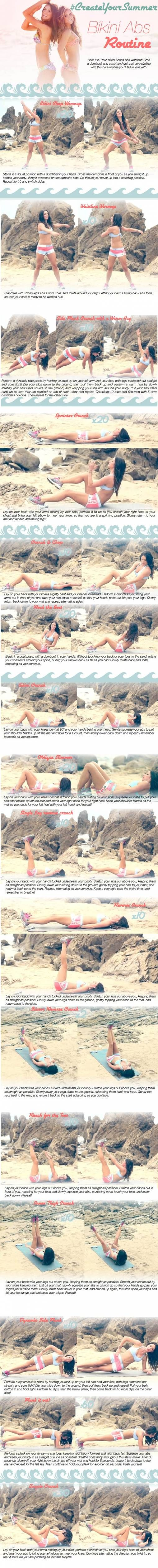 tone It UP bikini series Bikini Abs Printable pinterest
