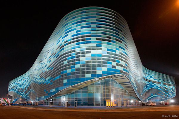 Sochi Goes Futuristic For Winter Olympics (http://blog.hgtv.com/design/2014/02/07/sochi-goes-futuristic-for-winter-olympics-2/?soc=pinterest): Skating Palaces, Sochi 2014, Olympic Ice, Beautiful Building, Winterolymp Sochi2014, Winter Olympic, Iceberg Skating, Olympic Games, Olympic 2014