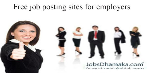 Free #job posting sites for #employers in India << Free job ...