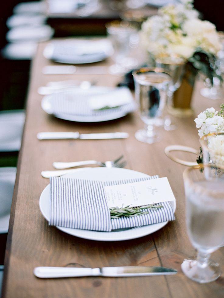 La Tavola Fine Linen Rental: Essex French Blue Napkins   Photography: Tanja Lippert, Event Planning & Design: Kaella Lynn Events, Floral Design: Huckleberry Karen Designs