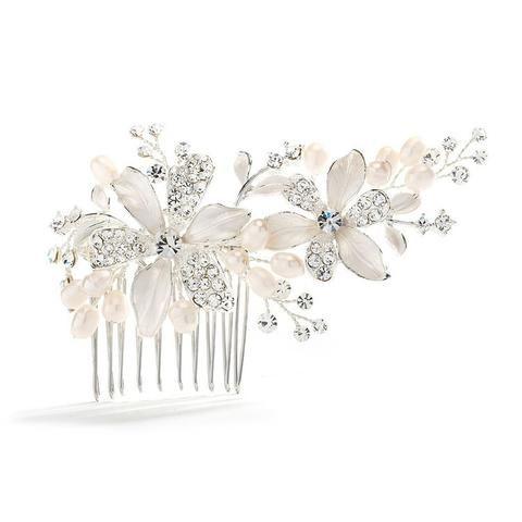 Pearl Bridal Hair Combs | Freshwater Pearl Wedding Hair Combs | UK