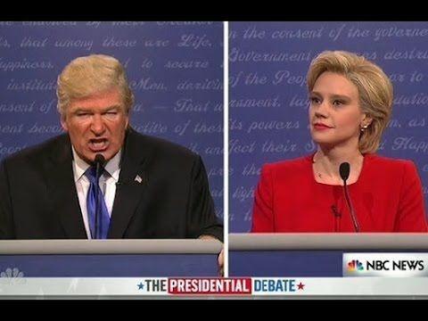 SNL - Presidential debate parody 2016 - YouTube