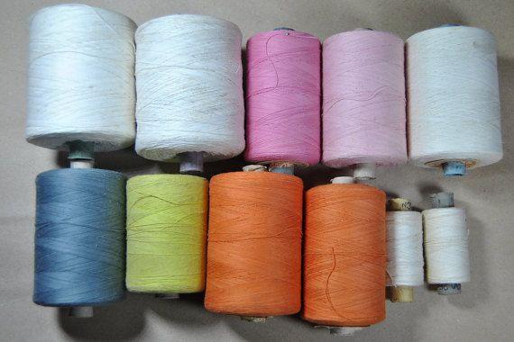 Vintage Sewing cotton thread. Big set. Made in by VintageParsel