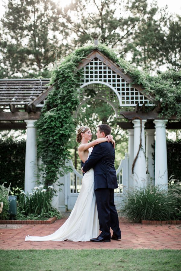 Hollyn And Matt Married In The White Garden At Daniel Stowe Botanical Garden.  Photo By