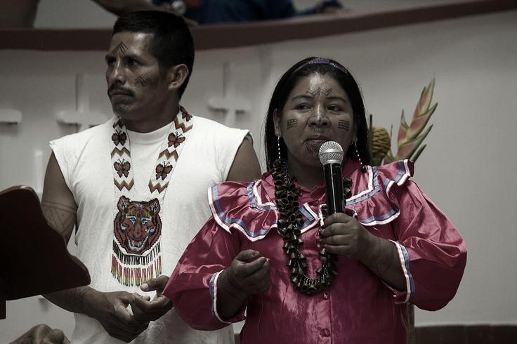5. La comunidad indígena de Trujillo participa de la peregrinación. Crédito: Rodrigo Grajales.