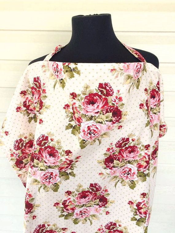 Floral Print Nursing cover by TinyNoseLittleToes on Etsy