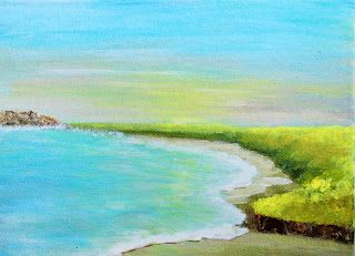 On the Coast of Somewhere Beautiful By Manju Raj To view more of her painting , please visit manjuspaintingadventures.blogspot.in #paintings #acrylicsoncanvas #landscapepainting #beachpainting  #art #originalart #acrylicpainting #landscapepainting