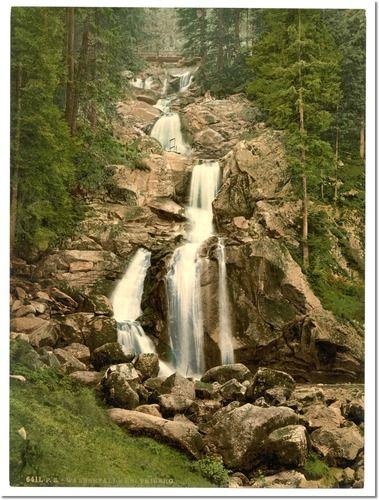 baden germany | ... Waterfall, Treiberg, Black Forest, Baden, Germany | Large Art Prints