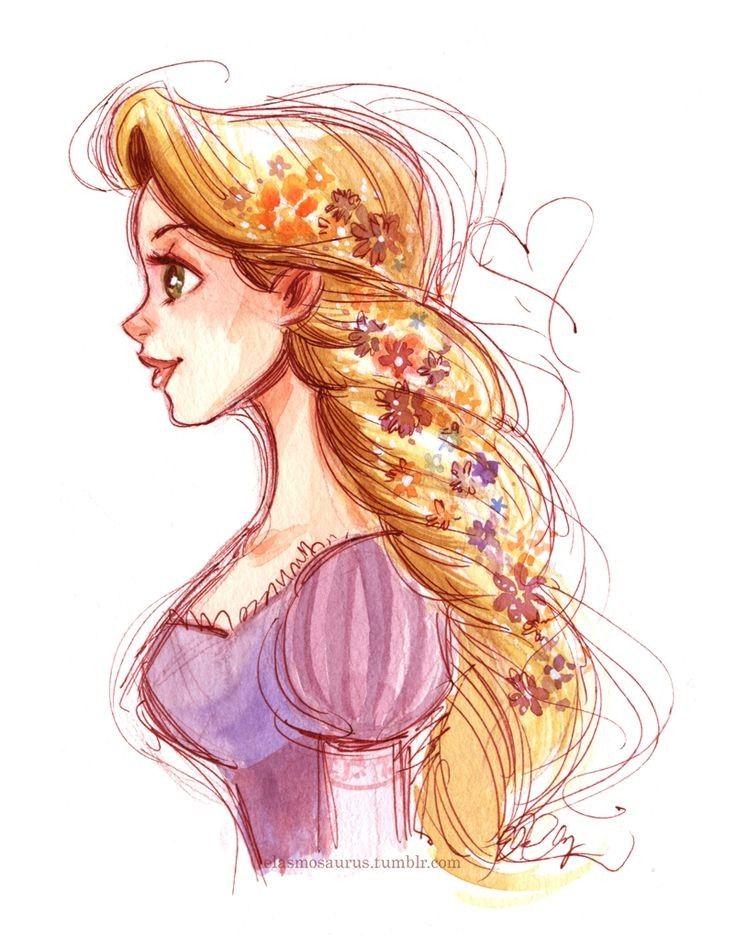 Принцессы рисованные картинки