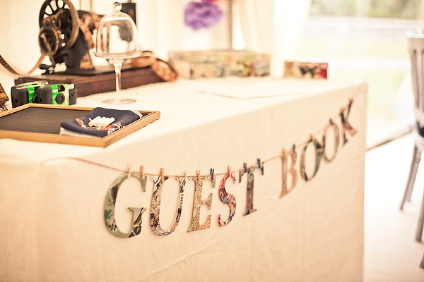 Guest Book table