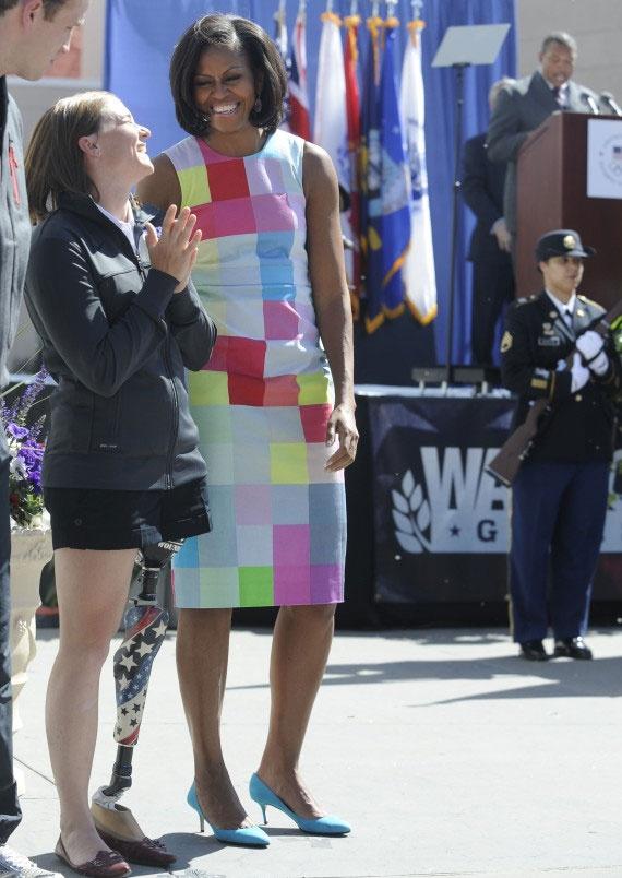 Michelle Obama Repeats Preen DressLady Michelle, Obama Fashion, Lady Michele, Michele Obama Flotus, Dresses, Michelle Obama, First Lady, Michele Obamaflotus, Michelleobama