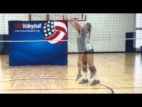 Setting Tips from Courtney Thompson--plus other great basic skill videos on the same page.  Courtesy of USA Volleyball