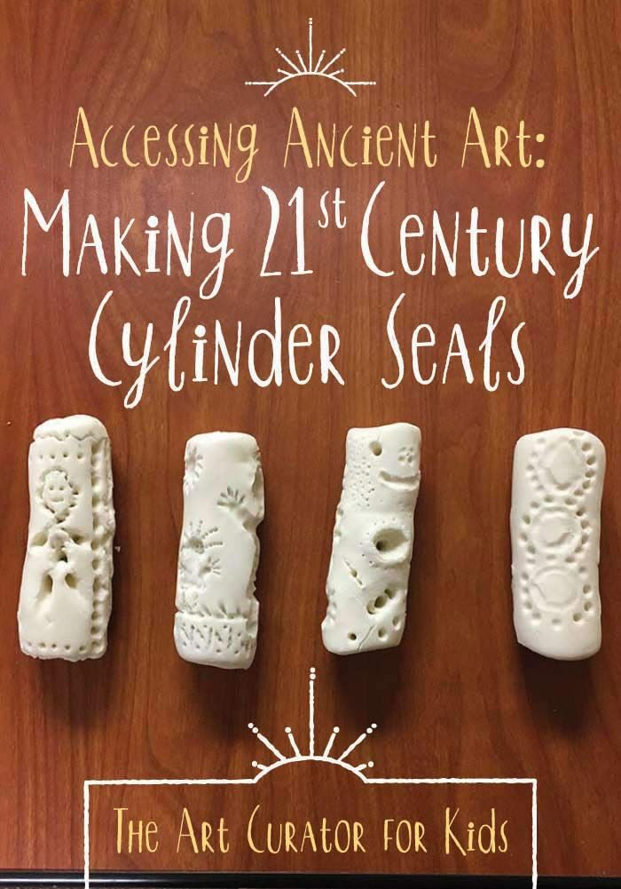 Sumerian cylinder seals art project