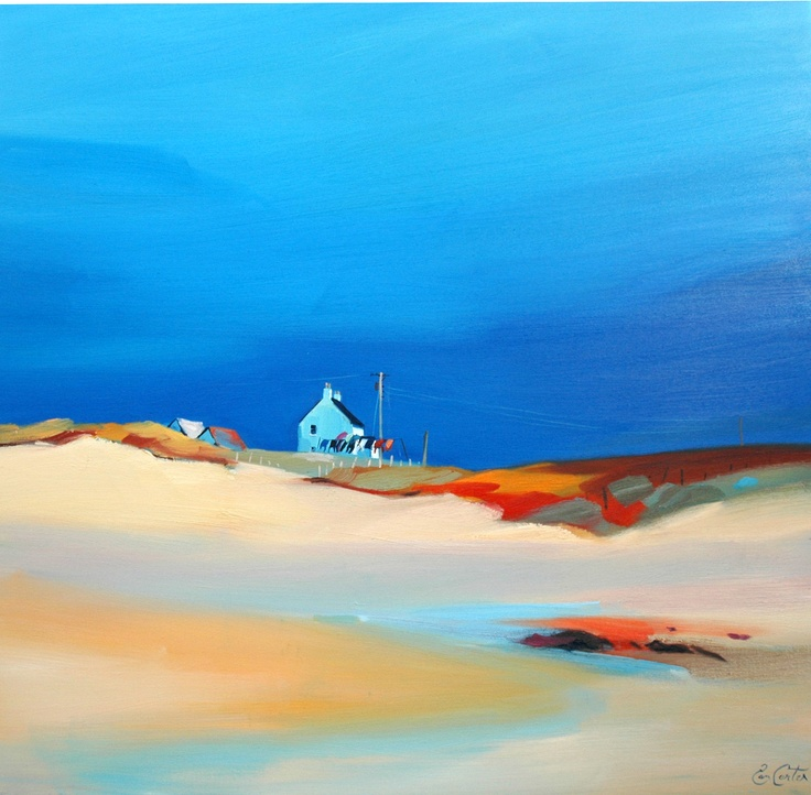 Pam Carter, Gable By The Sea  oil (framed) 32″x32″