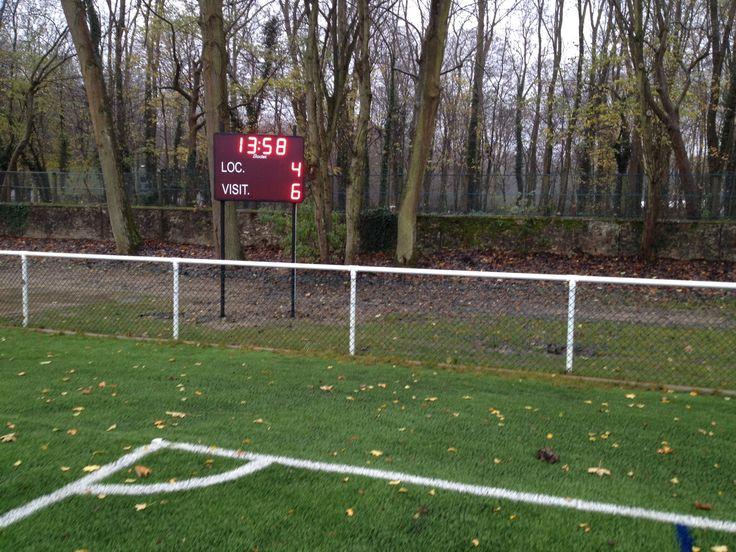 12/2014 - Le complexe sportif Marcel Bec de #Meudon (92) s'est équipé de deux tableaux d'affichage sportif #Bodet BT2025 CLASSIC pour les stades de #football et de #rugby. http://www.bodet-sport.com/tableaux/bt2025-classic.html