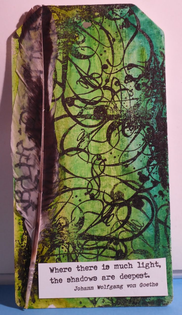 PaperArtsy EAB02 Darkness and Light by Evil Edna