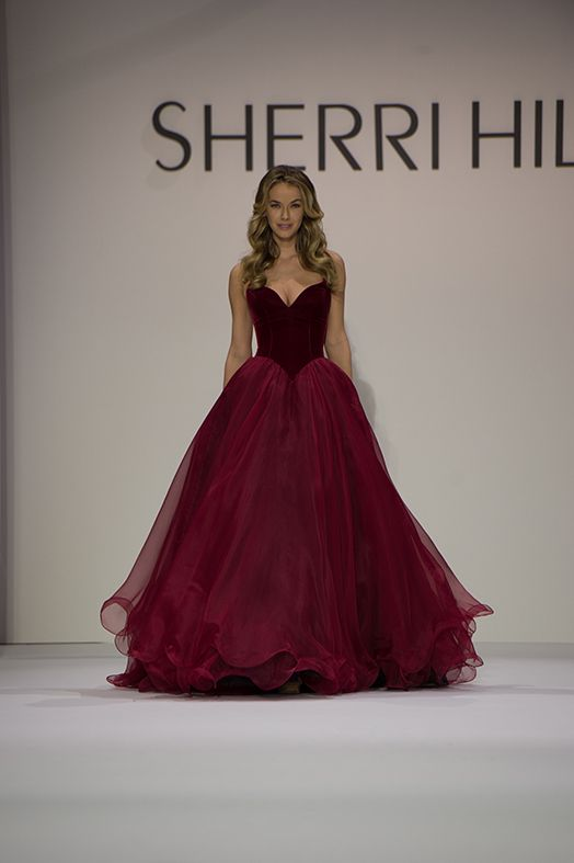 Cherie red formal gown cigarette holder - 2 5