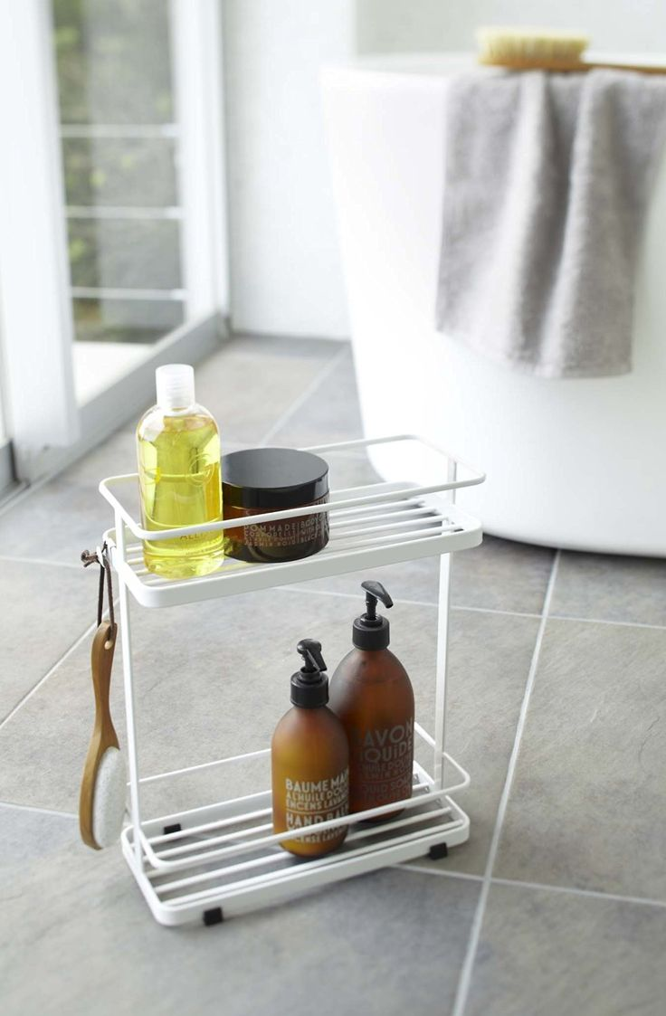 Amazon.com: YAMAZAKI home Tower Bath Rack, White: Home & Kitchen