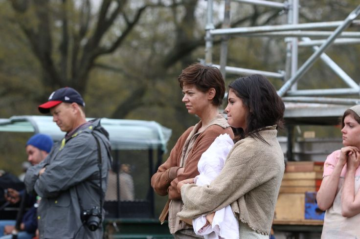 """March 25: Selena on the set of """"In Dubious Battle"""" in Bostwick, Georgia"""