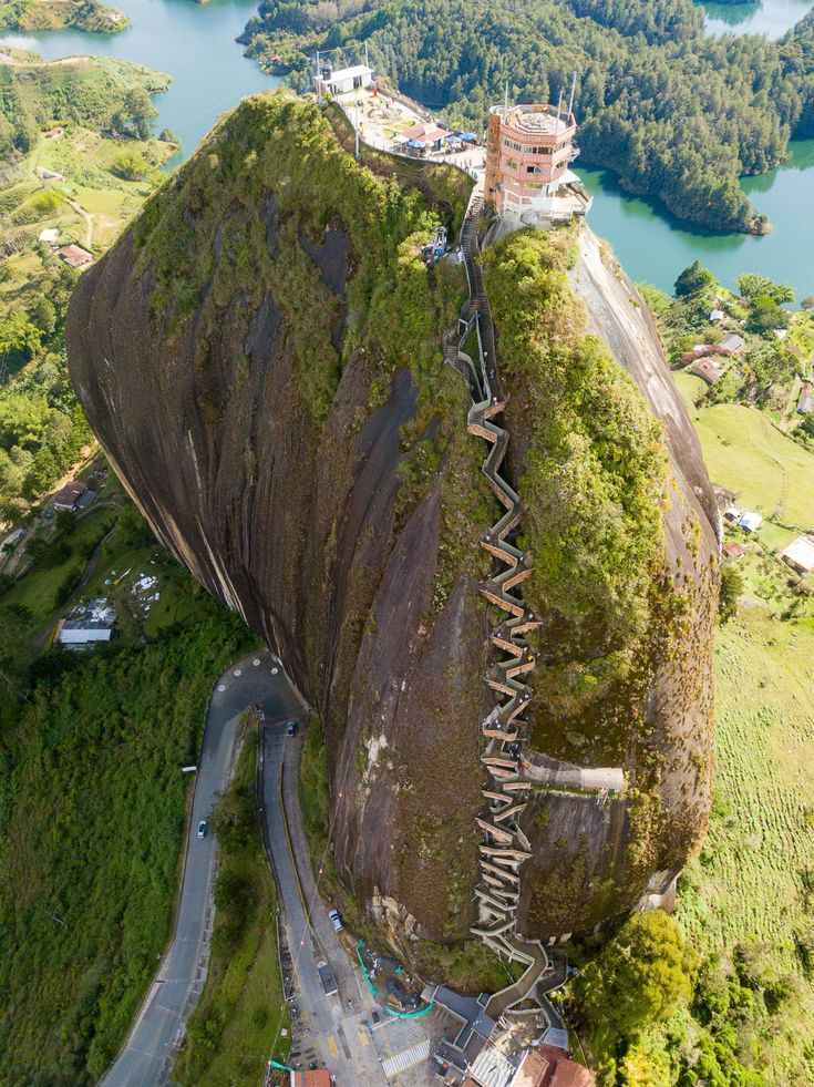 Mountaineering the towering Penol Rock in Guatape is without doubt one of the high issues to do in all of Colombia!