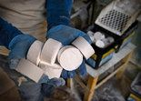 KMI Inc.'s 65 employees have been working 24/7 to produce Roofmelt, its patented 3-inch calcium chloride tablets.