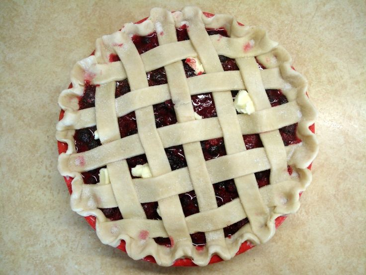 Share it! This Christmas we wanted to make a nice berry pie, but berries are obviously not in season right now. We opted to use frozen berries. My mom has had problems with a soggy crust while using fresh berries so I adjusted the recipe to help with any excess liquid. We did a fairly …