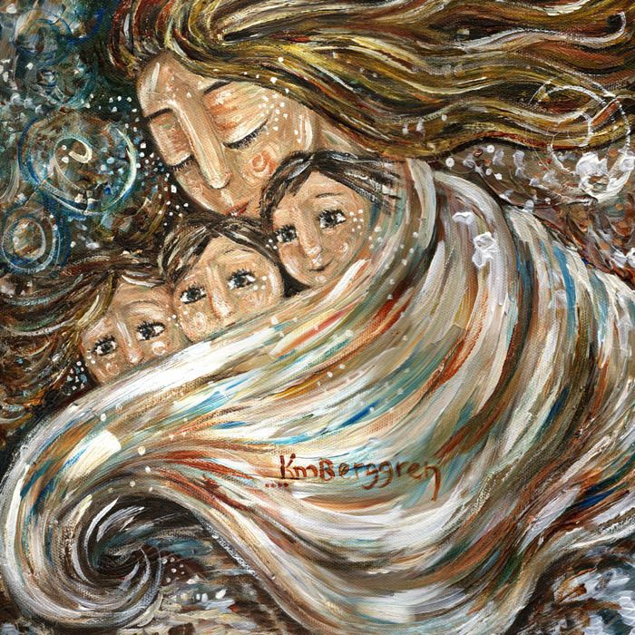 This is so sweet! Warmth In The Cold, ©2011 by Katie m. Berggren ~ Message from the Artist: a seasonal painting, noting the warmth of love, even on chilly days.