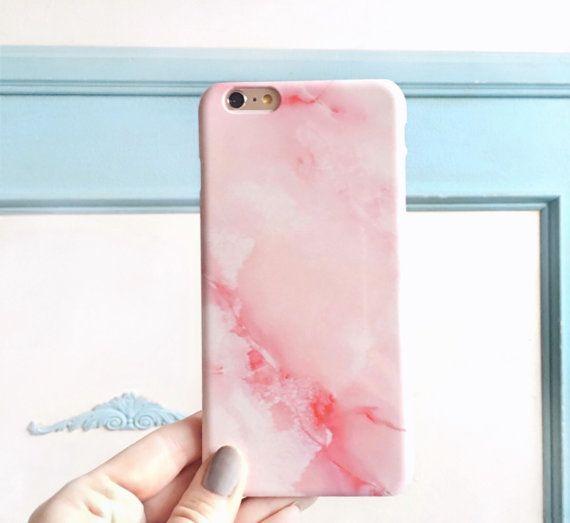 Rosa mármol iPhone 6S caso Rose cuarzo del por JoyMerrymanStore