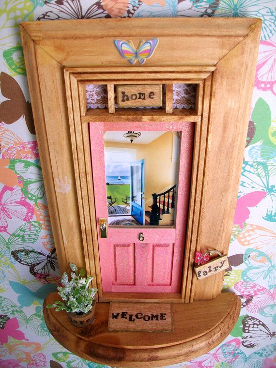 Fairy Door Ideas fairy door gift set pink with necklacefairy dust tooth receipts key Fairy Door Pink Sparkle Door Backyard Beach