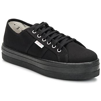 Los años 90 están de moda con esta zapatilla de caña baja con una suela XXL. Victoria pone al día la zapatilla con suela gruesa y esto encanta a las fashionistas. - Color : Negro - Zapatos Mujer 43,90 €