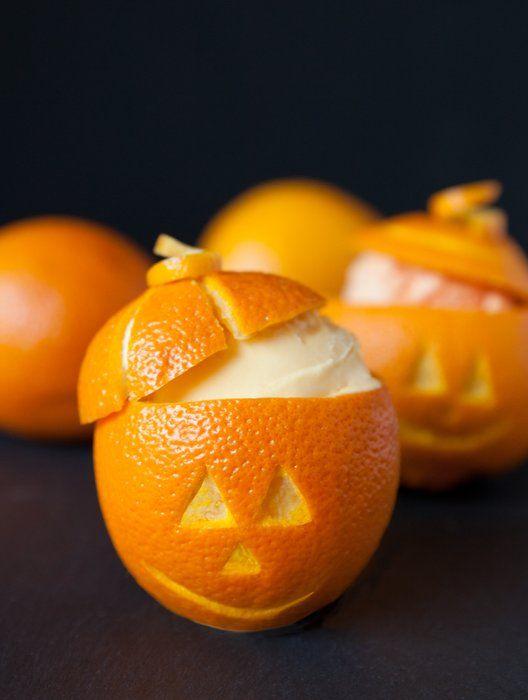 Halloween Orange Sherbet Pumpkins: So cute and so easy!