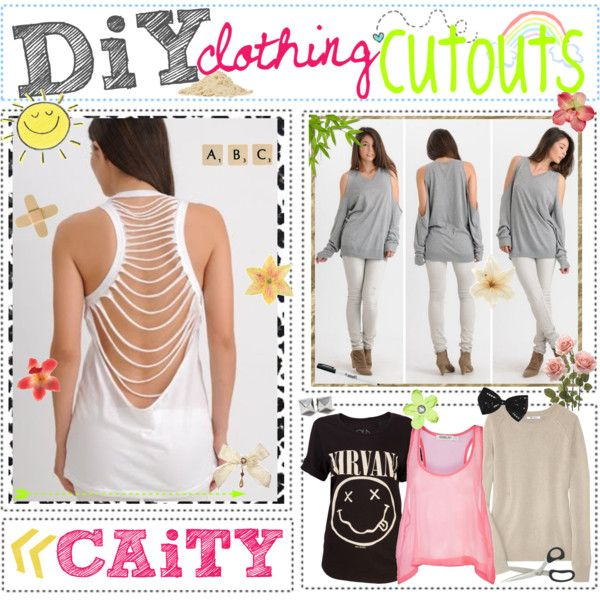 """""""diy; clothing cutouts ✂"""" by polyvoretipteam ❤ liked on Polyvore"""
