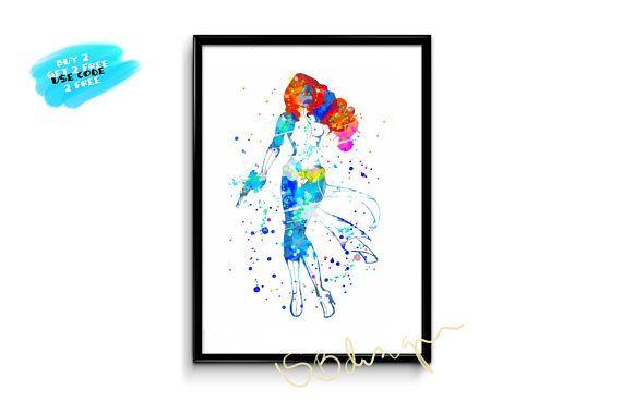 X men Mystique Poster Watercolor mystique printable nursery